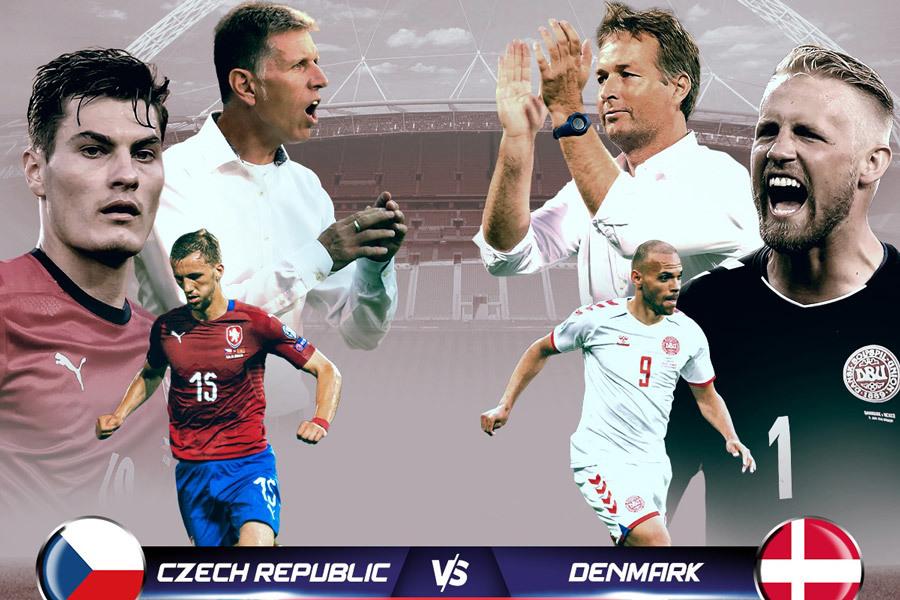 Link xem trực tiếp CH Séc vs Đan Mạch, 23h ngày 3/7