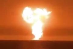 Video dàn khoan nghi phát nổ ngoài khơi Azerbaijan