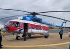 Hình ảnh máy bay trực thăng đưa đề thi tốt nghiệp ra Côn Đảo