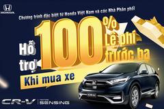 Mua Honda CR-V được miễn 100% lệ phí trước bạ trong tháng 7