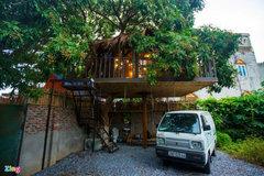 Bỏ 130 triệu để xây nhà trên cây ở ngoại thành Hà Nội