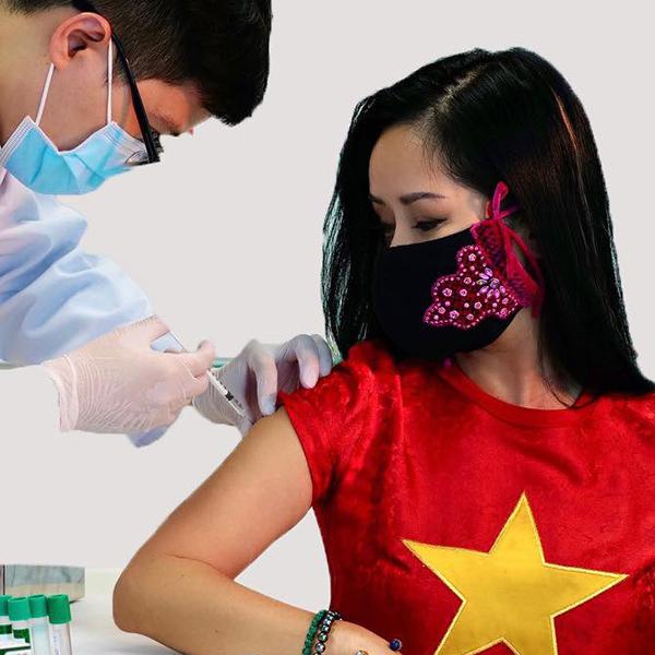 Diva Hồng Nhung đã tiêm vắc-xin Covid-19 của Việt Nam