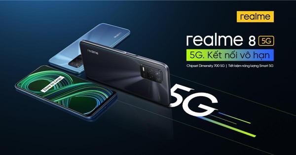 Trải nghiệm 'siêu tốc' với realme 8 5G