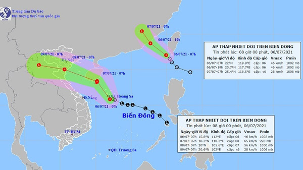New tropical depression appears, storm alert issued