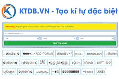 Tạo kí tự đặc biệt dễ dàng với KTDB.VN