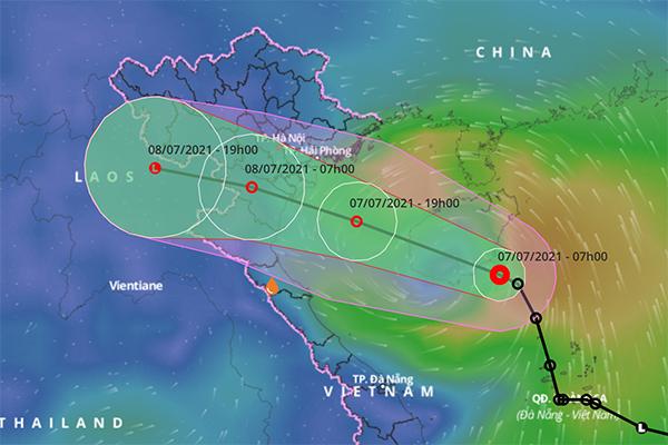 Áp thấp nhiệt đới hướng Hải Phòng – Thanh Hóa, mưa lớn nhiều nơi