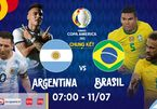Brazil 0-0 Argentina: Messi đối đầu Neymar (H1)