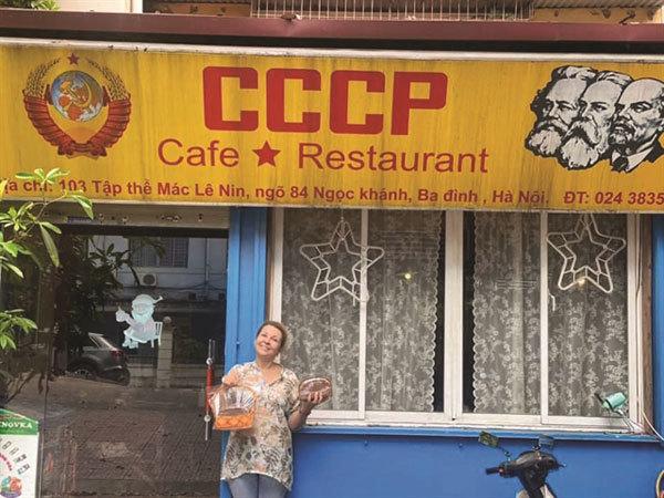Melancholic USSR cafe, reminder of a bygone era