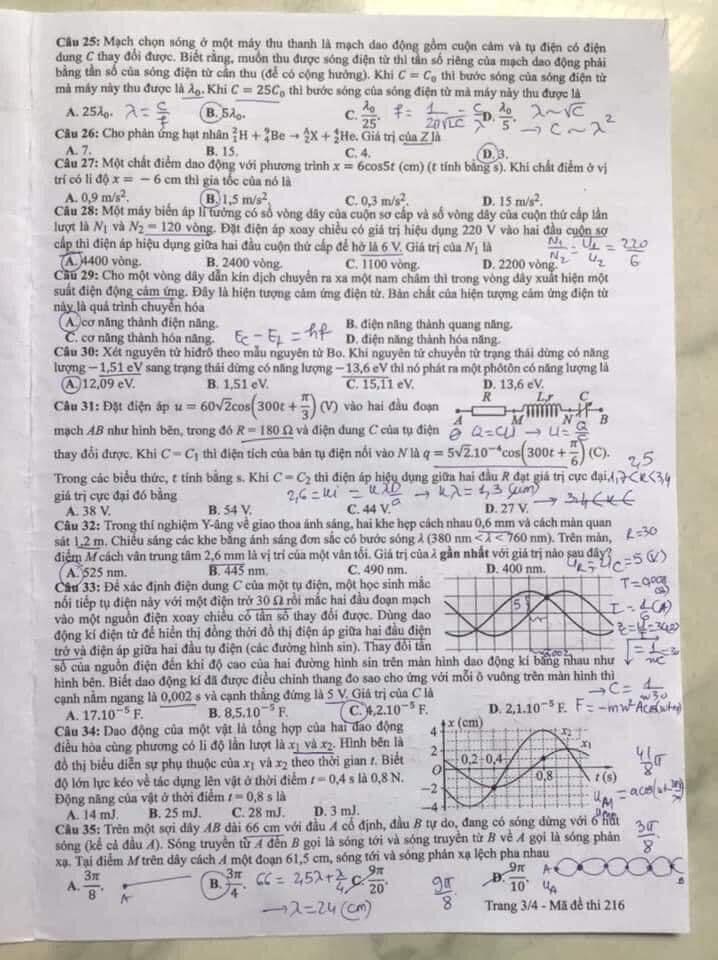 Đề Vật lý thi tốt nghiệp THPT: Khó hơn đề minh họa?