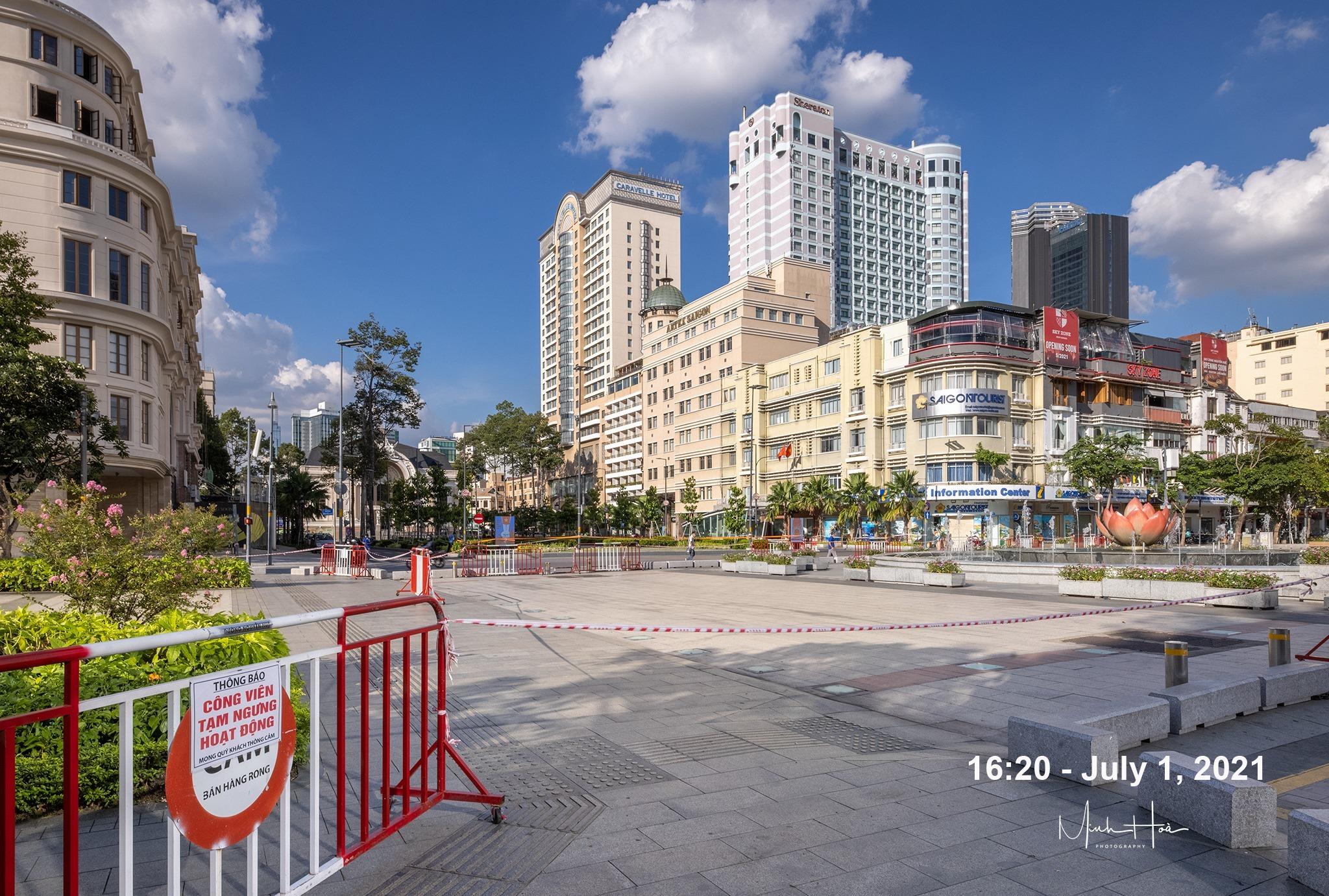 Một Sài Gòn 'băng bó' thấy thương