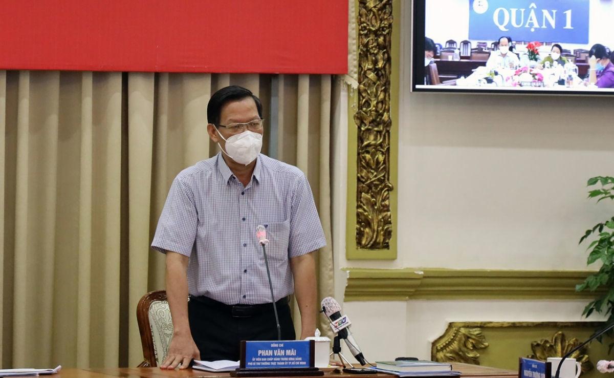 Phó Bí thư Thành ủy Phan Văn Mãi: TP.HCM vẫn chưa đạt đỉnh dịch