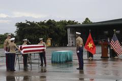 Việt Nam bàn giao hài cốt quân nhân Mỹ mất tích trong chiến tranh