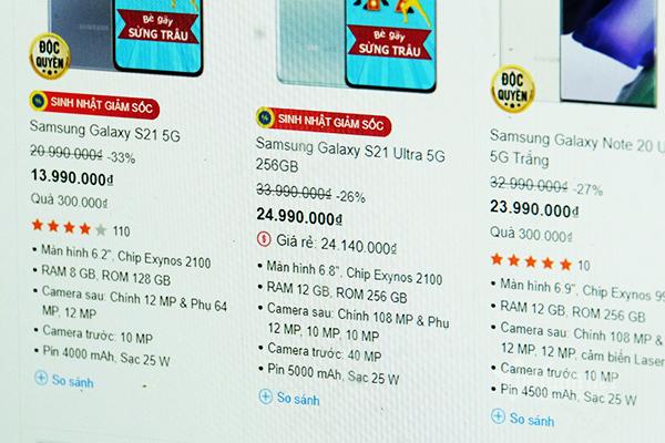 Đại hạ giá mùa dịch, Galaxy S21, Galaxy Note 20 giảm sốc 8-9 triệu đồng
