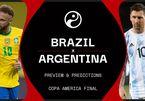 Xem trực tiếp Brazil vs Argentina ở đâu, kênh nào?