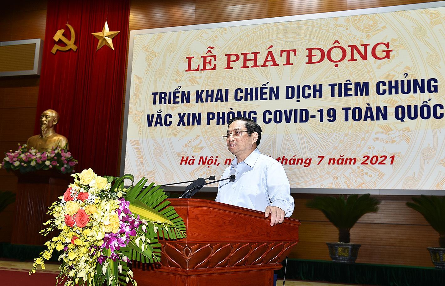 Toàn văn phát biểu của Thủ tướng Phạm Minh Chính tại lễ phát động Chiến dịch tiêm chủng toàn quốc