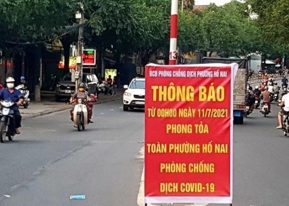 Đồng Nai phong tỏa 5 phường với hơn 250 nghìn dân từ ngày 11/7