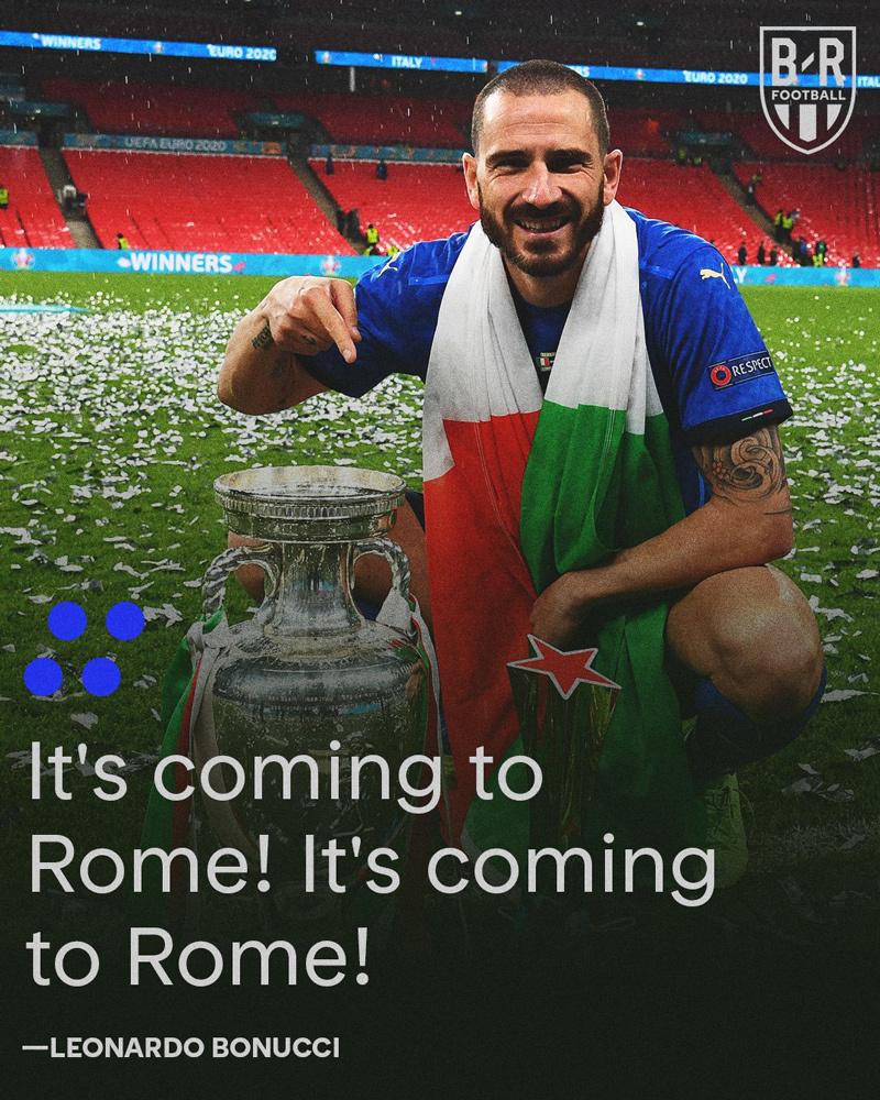 Bonucci vỡ òa 'Hãy đưa cúp ngay về Rome'