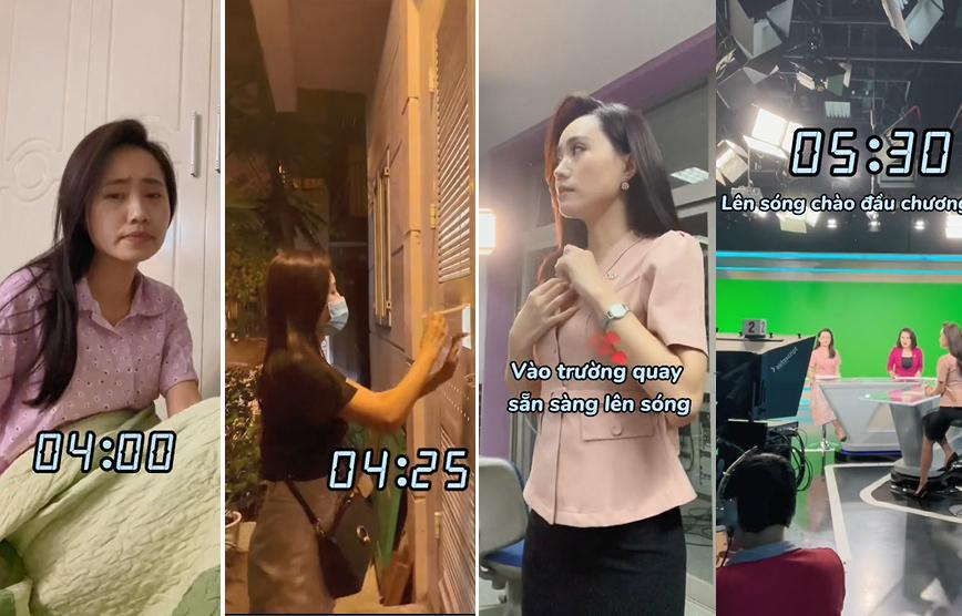 MC Xuân Anh VTV gây sốt với clip đi làm từ sáng sớm