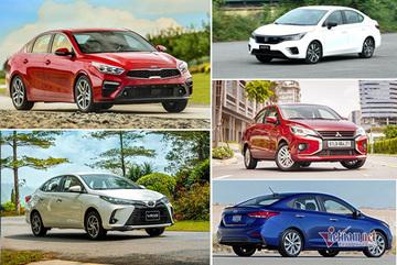5 mẫu sedan dưới 700 triệu bán chạy nhất tháng 6/2021