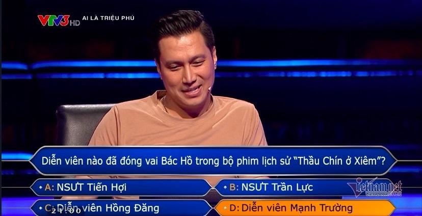 Việt Anh lập kỷ lục trên ghế nóng 'Ai là triệu phú'