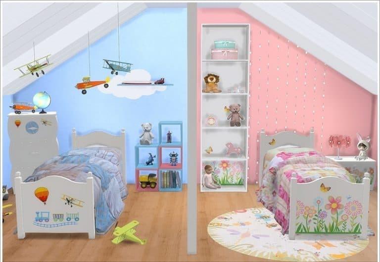 Mê mẩn những mẫu phòng ngủ sáng tạo không giới hạn cho bé sinh đôi