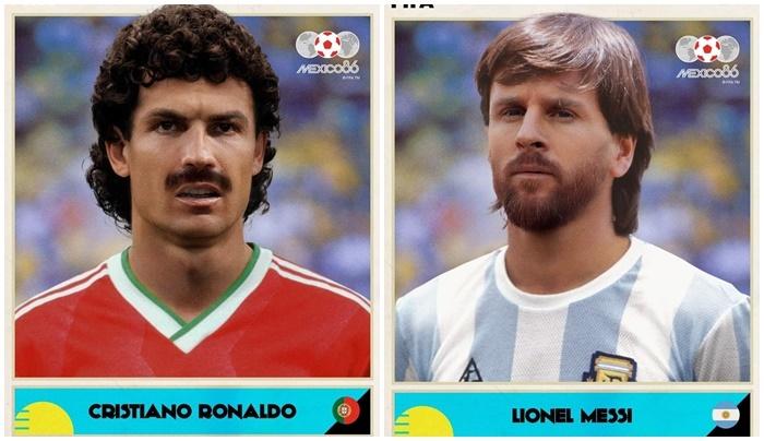 Phì cười với Ronaldo, Messi phiên bản World Cup 1986