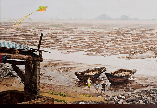 Triển lãm trực tuyến 'Câu chuyện dòng sông' gây quỹ vì cộng đồng