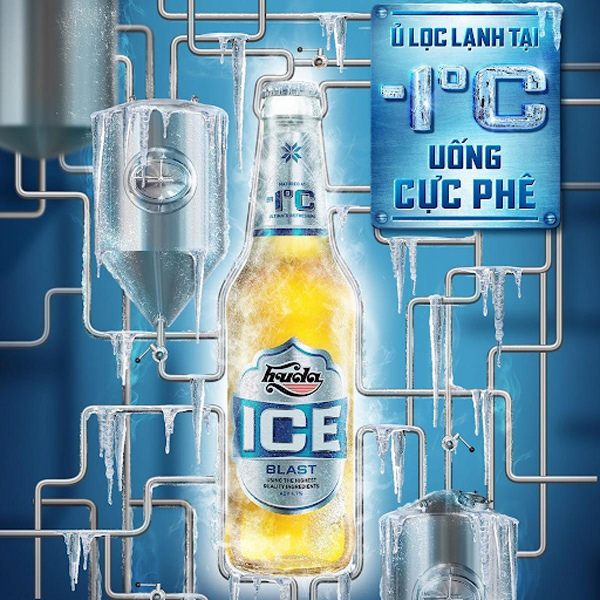 Huda Ice Blast - 'đóng băng' mùa hè với vị bia sảng khoái