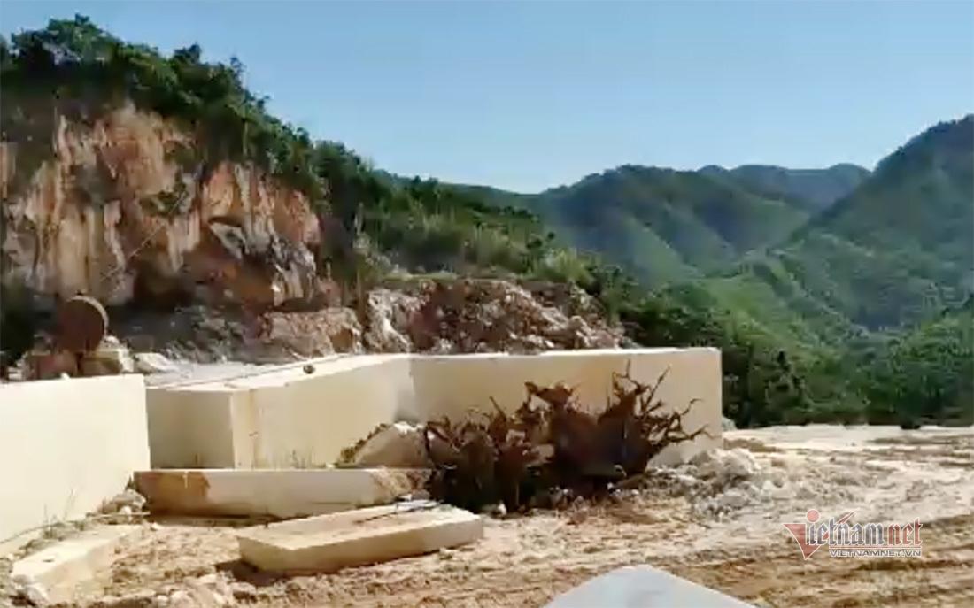 Vụ khai thác đá trắng bị bắt giữ: Đoàn kiểm tra đã nhắc nhở nhưng vẫn vi phạm
