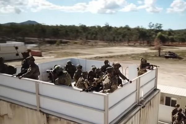 Hình ảnh Mỹ cùng đồng minh tập trận rầm rộ ngoài khơi Australia