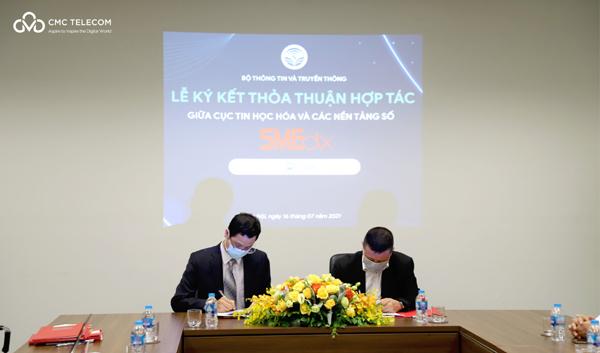 CMC Telecomchính thức là nền tảng số hỗ trợ doanh nghiệp cùng Bộ TT&TT