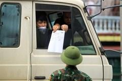 Lái xe chở hàng nội bộ 19 tỉnh phía Nam không cần giấy xét nghiệm âm tính