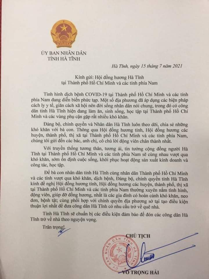 Hà Tĩnh thuê tàu hỏa đón công dân về từ TP.HCM