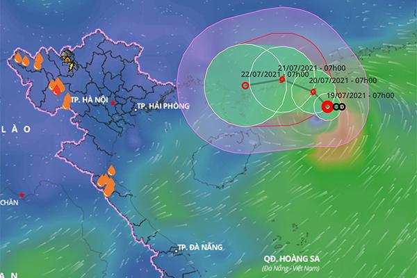 Áp thấp nhiệt đới khả năng thành bão giật cấp 10