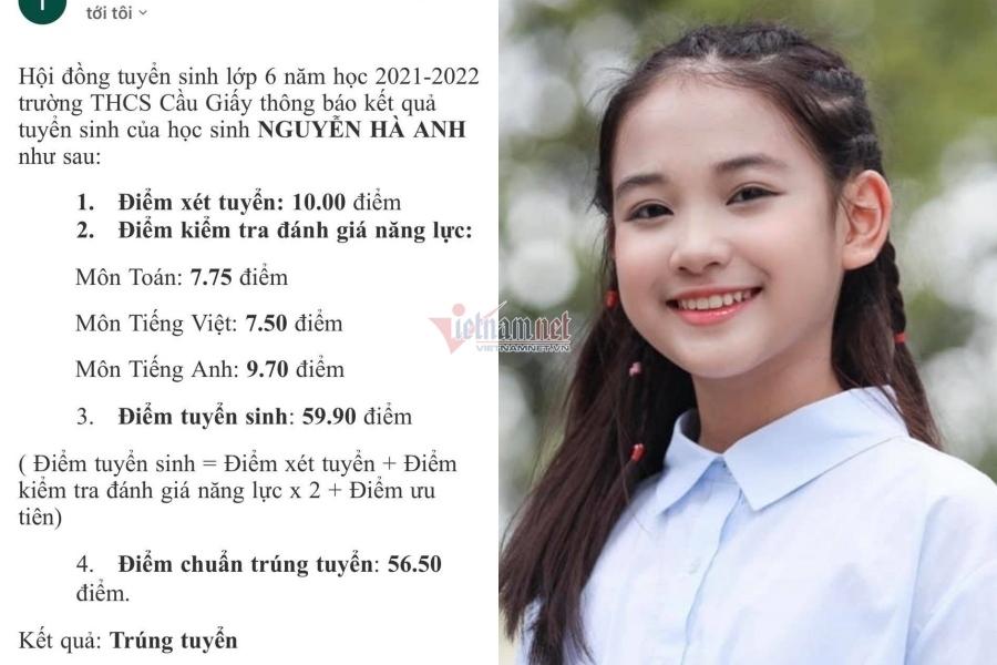 Diễn viên nhí 'Hương vị tình thân' trúng tuyển trường top đầu ở Hà Nội