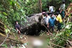 Ô tô lao xuống vực ở Lai Châu, 2 người tử vong