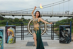 Dancer Xuan turns up the heat for her act