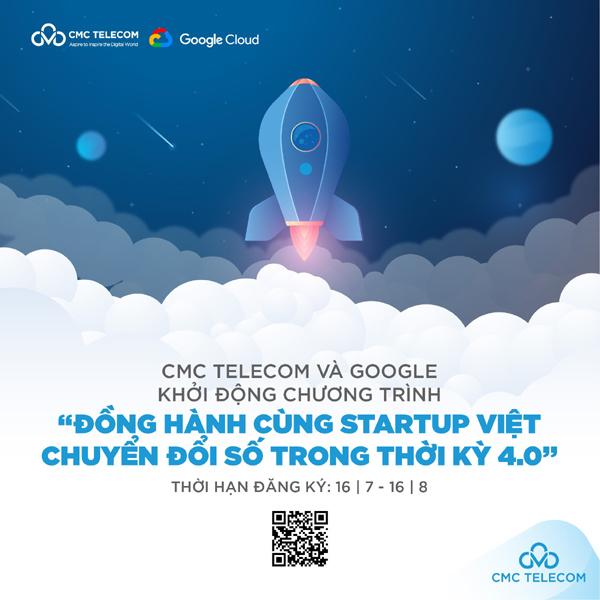 Cơ hội nhận 100.000 USD từ Google và CMC Telecom dành riêng cho startup Việt