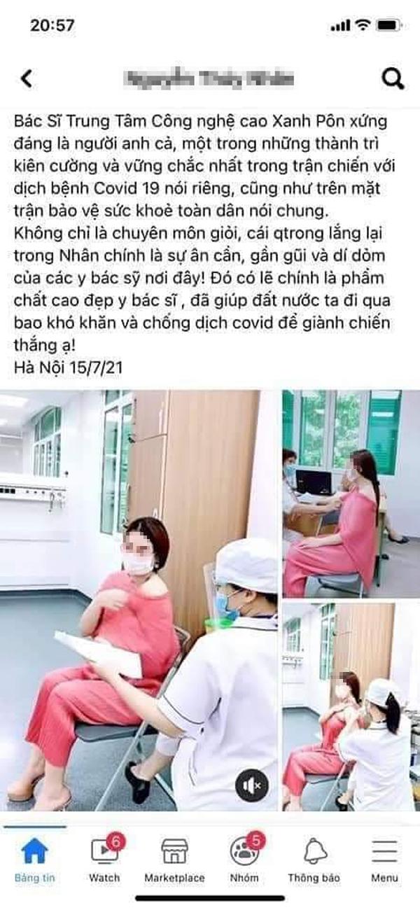 Hà Nội yêu cầu làm rõ vụ Á hậu doanh nhân được tiêm vắc xin tại Bệnh viện Xanh Pôn