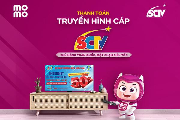 Thanh toán cước thuê bao SCTV dễ dàng qua ví điện tử