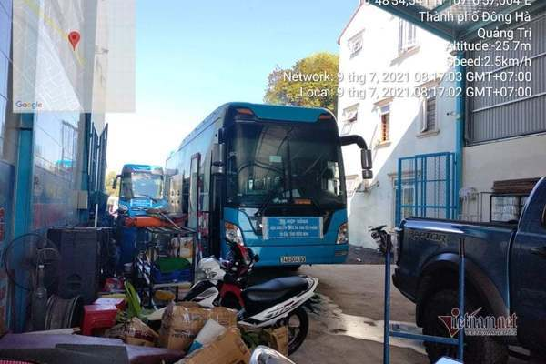Xe khách từ TP.HCM về Quảng Trị vượt chốt kiểm tra bị phạt 22 triệu