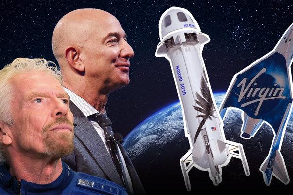 Tham vọng của Jeff Bezos và Richard Branson sau khi bay vào vũ trụ