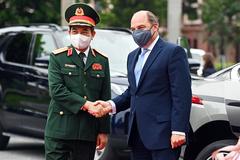 Đại tướng Phan Văn Giang chủ trì lễ đón Bộ trưởng Quốc phòng Anh