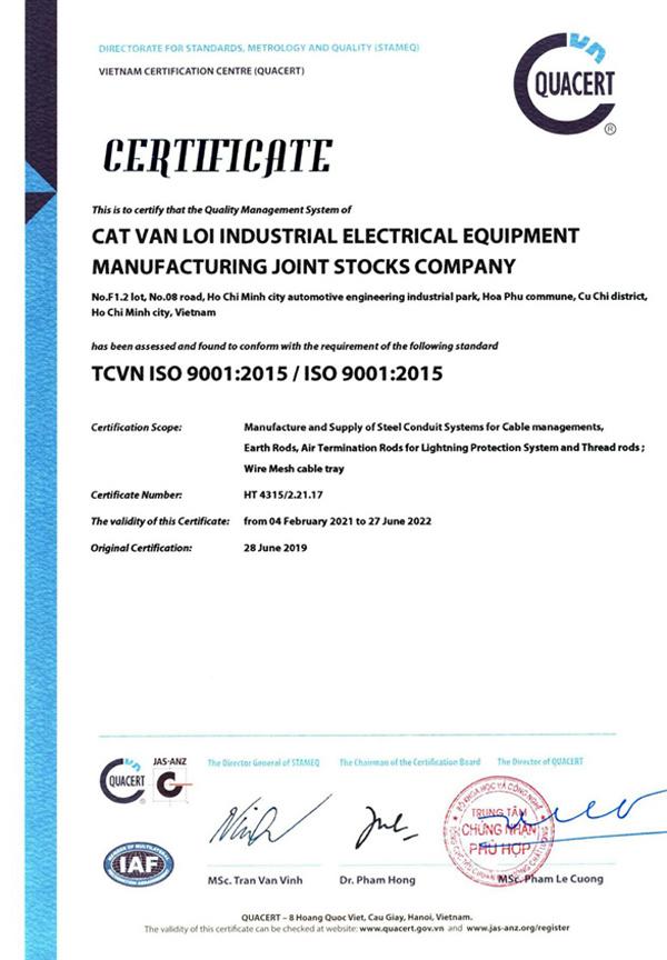 Cọc tiếp địa và kim thu sét CVL đạt hợp chuẩn IEC 62561