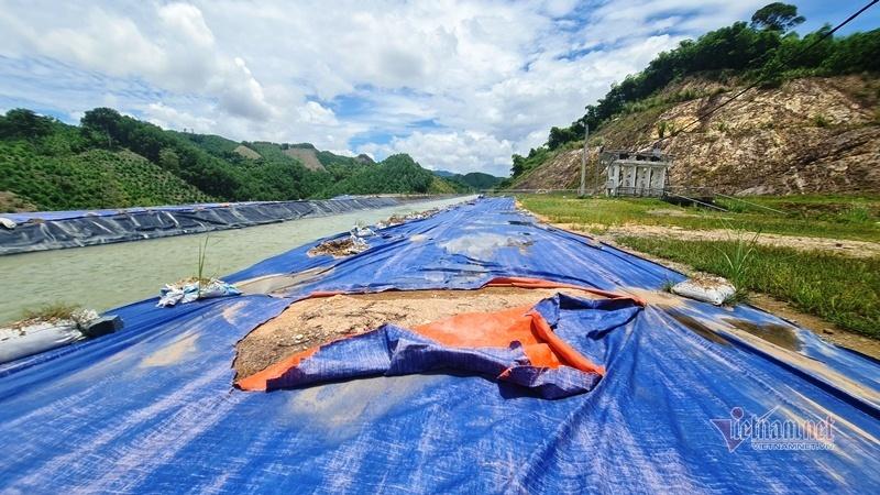 Dòng kênh 4.300 tỷ bị vỡ ở Thanh Hóa mới khắc phục tạm để phục vụ sản xuất