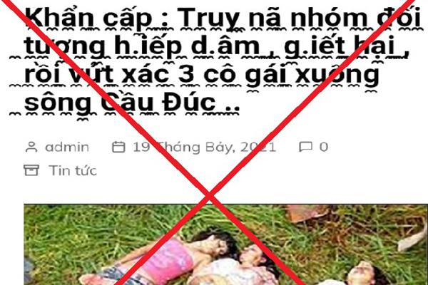 Thông tin truy nã nhóm đối tượng hiếp dâm, giết, vứt xác 3 cô gái là giả mạo