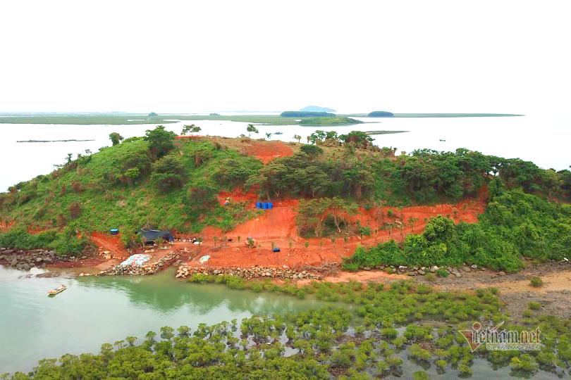 Làm biến dạng địa hình đảo Đầu Sơn, chủ đầu tư bị thu hồi đất