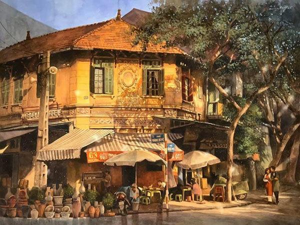 Social distancing,paintings,Hanoi