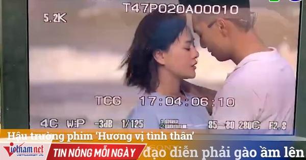 Đạo diễn bất ngờ vì Mạnh Trường hôn Phương Oanh quá ngọt