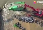 Kè sông Trung Quốc bị nứt vỡ, hàng nghìn người bị đe dọa tính mạng